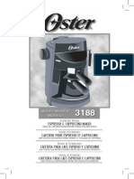 Manual Cafetera Oster 3188