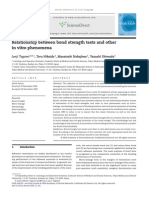 Relationship Between Bond Strength Tests and Other in Vitro Phenomena