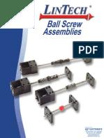 Lintech Ball Screw Assemblies Catalog