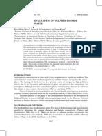 Experimental Evaluation of Sulphur Dioxide