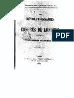 Révolutionnaires Au Congrès de Londres - Temps Nouveaux (1895)