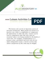 LifeValuesInventory.org - Leisure Activities Locator