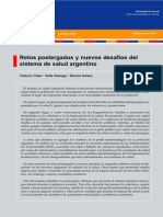 Retos Postergados y Nuevos Desafios Del Sistema de Salud Argentino