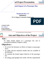 Study of frontal impact of passenger bus