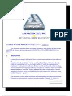 avenue  Record Contract