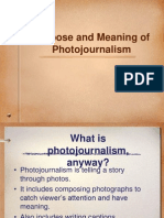 What is Photojournalism