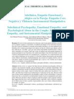 Psicopatía Subclínica, Empatía Emocional y Maltrato Psi Osicológico en La Pareja