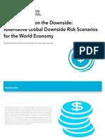 Alternative Global Downside Risk Scenarios for the World Economy