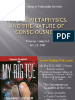 Physics, Metaphysics & the Nature of Consciousness