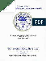 FINAL 07-009 Audit of Comm. Deve. Housing Program Report Jun