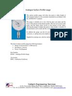 Caltech- Analogue Surface Profile Gauge