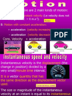 21  instantaneous speed velocity  the equations of motion