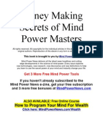 Money Making Secrets of Mind Power