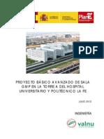 GMP_ MEMORIAS PRESUPUESTO y Proyecto Basico Sala Hospital Universitario La Fe