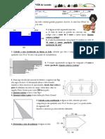 Ficha de Trabalho Sobre Areas e Perimetros