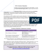 umu disposition evaluation spring 2014