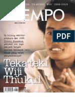 Majalah Tempo Edisi Wiji Thukul