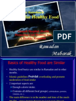 Food Guidelines for Ramadan (IV)