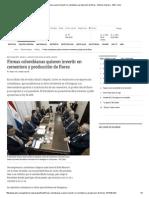 Firmas Colombianas Quieren Invertir en Cementera y Producción de Flores - Edicion Impresa - ABC Color