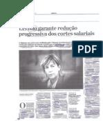 'Lei não garante redução progressiva dos cortes salariais' (Catarina Almeida Pereira, Jornal de Negócios, 07.08.2014)