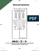 GRUNDIG RC-7-1