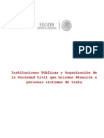 Instituciones Publicas y Organizacion de La Sociedad Civil Que Brindan Atencion a Personas Victimas de Trata