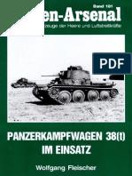 Waffen Arsenal - Band 181 - Panzerkampfwagen 38(t) im Einsatz