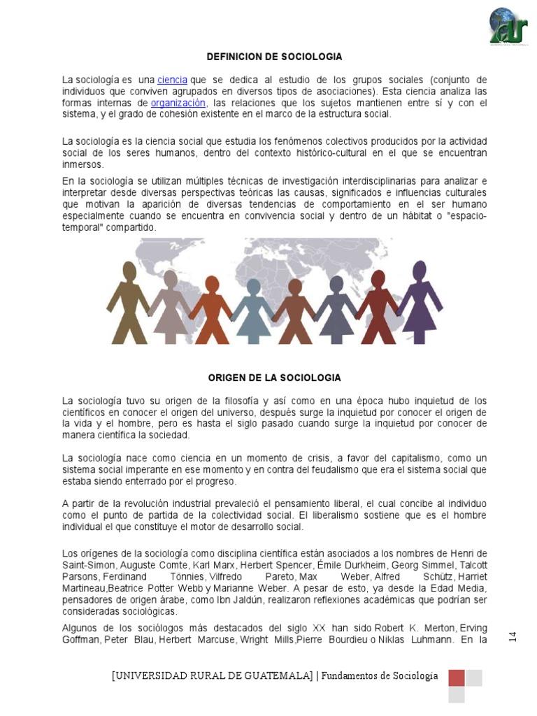 CONTENIDOS SOCIOLOGIA