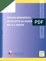 Cuadernos de Investigación Nº17 Estudio Ergonómico en Plantas Salmoneras de La X Región