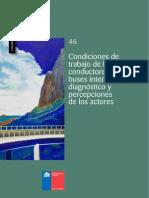 Cuadernos de Investigación Nº46 Condiciones de Trabajo de Los Conductores de Buses Interurbanos Diagnóstico y Percepciones de Los Actores