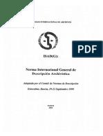 Norma Internacional General de Descripción Archivística