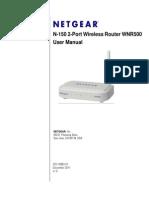 User Manual Netgear Wnr500