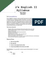 english ii honors syllabus