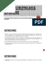 HIDROCLIMATOLOGIA APLICADA