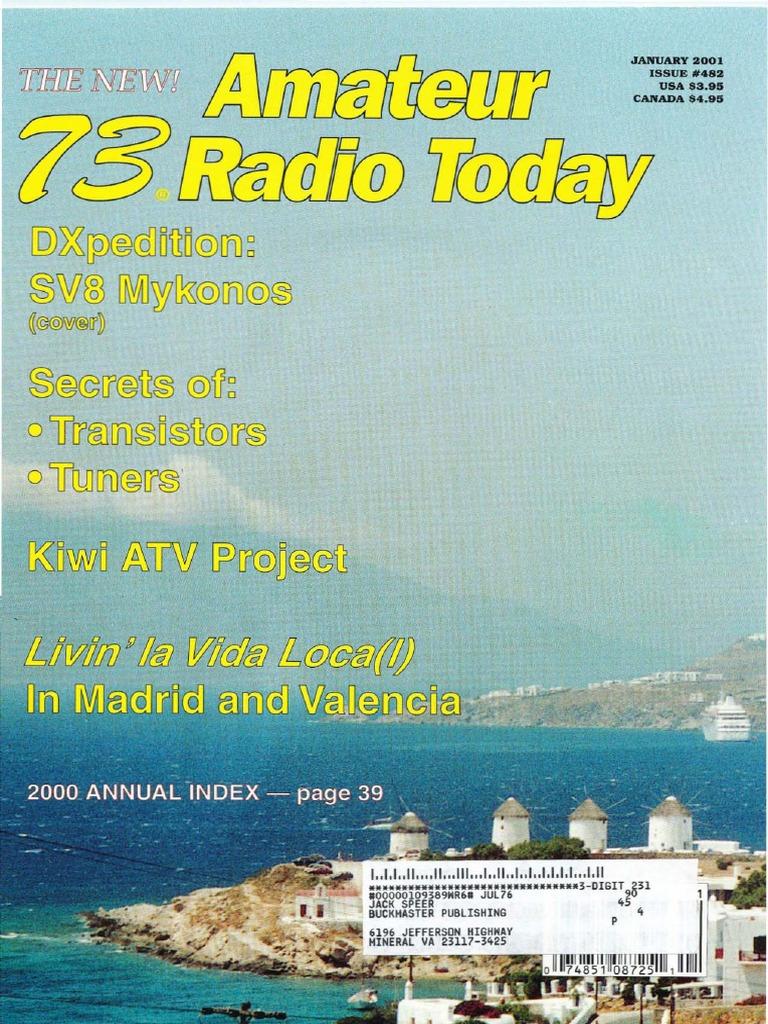 73 Magazine - January 2001 | Antenna (Radio) | Electrical