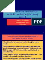Trendi v moderni farmacevtski analitiki