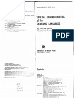 General Characteristics of the Germanic Languages -Meillet