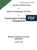 Teaching Schedules in M.Tech Construction