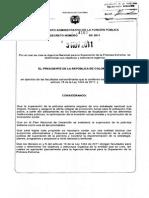 Decreto 4160 Red Unidos