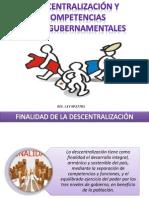 Descentralización y Competencias Gubernamentales