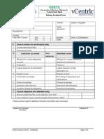 Training Feedback Form for SAP