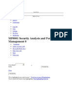 MF0001 Security Analysis and Portfolio Management 0