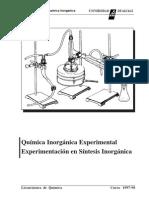 Experimentación en Química Inorgánica