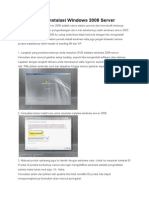 Tutorial Cara Instalasi Windows 2008 Server