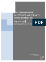 Elite Precommissioning Procedures and Formats for SS Bay Equipment