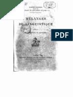 Mélanges de linguistique offerts à M. Ferdinand de Saussure (1908)