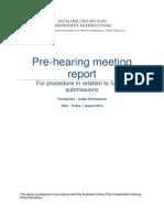 Unitary Plan Hearings Panel Pre Hearings meeting report #1
