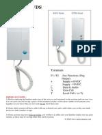 Fermax Loft VDS Door Entry Handset Data Sheet