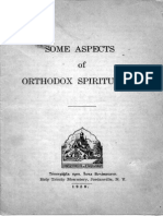 Some Aspects of Orthodox Spirituality