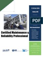 Certified Maintenance & Reliability Professional